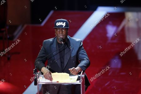 Polar prize winner, US hip hop recording artist and DJ Grandmaster Flash onstage during the 2019 Polar music price ceremony at the Grand Hotel in Stockholm, Sweden, 11 June 2019.