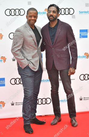 Adrian Lester and guest