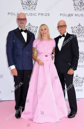 Stock Picture of Lasse Anderson, Marie Ledin and Anders Anderson