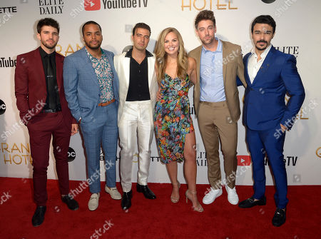 Stock Picture of Bryan Craig, Chris Warren, Jencarlos Canela, Hannah Brown, Lincoln Younes and Shalim Ortiz
