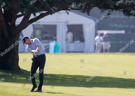 Jimmy Walker of the US on the eighteenth hole during a practice round for the 119th US Open Championship at the Pebble Beach Golf Links in Pebble Beach, California USA, 11 June 2019. The tournament will be played from 13 June to 16 June.