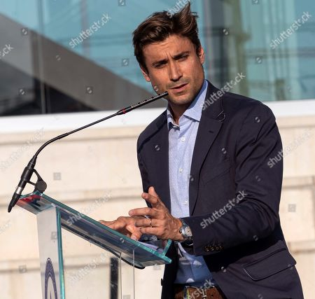 Spanish tennis former player David Ferrer delivers a speech during the graduation ceremony of Rafa Nadal Academy, students of American International School of Mallorca, in Manacor, Balearic Islands, Spain, 11 June 2019.