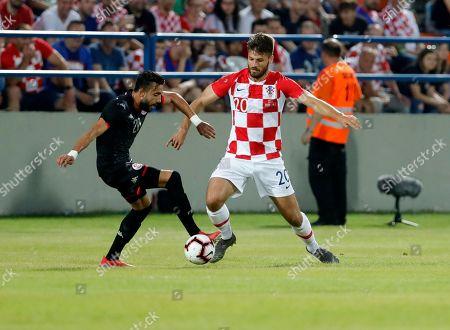 Editorial photo of Croatia vs Tunisia, Varazdin - 11 Jun 2019