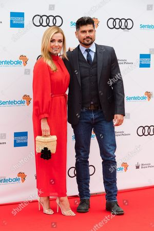 Welsh mezzo-soprano singer Katherine Jenkins (L) and Andrew Levitas (R) pose on the red carpet at the Sentebale Audi Concert at Hampton Court Palace in London, Britain, 11 June 2019. The concert will raise awareness and funds for Sentebale, the charity founded by The Duke of Sussex and Prince Seeiso, to support children and young people affected by HIV and AIDS in Lesotho, Botswana and Malawi, countries where HIV remains a leading cause of death.