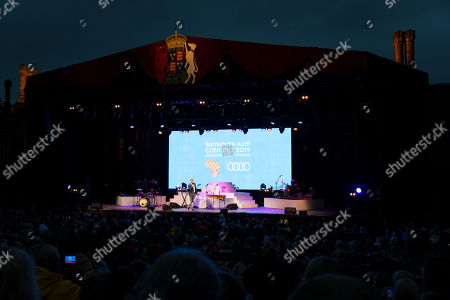 Britain's Prince Harry, Duke of Sussex, speaks at the Sentebale Audi Concert at Hampton Court Palace in London, Britain, 11 June 2019. The concert will raise awareness and funds for Sentebale, the charity founded by The Duke of Sussex and Prince Seeiso, to support children and young people affected by HIV and AIDS in Lesotho, Botswana and Malawi, countries where HIV remains a leading cause of death.