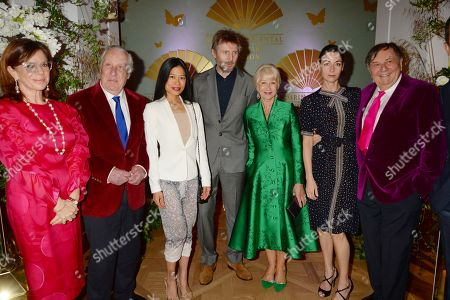 Frederick Forsyth, Vanessa Mae, Liam Neeson, Helen Mirren, Mary McCartney and Barry Humphries