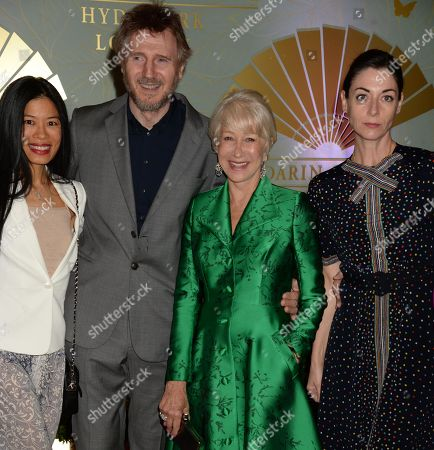 Vanessa Mae, Liam Neeson, Helen Mirren and Mary McCartney