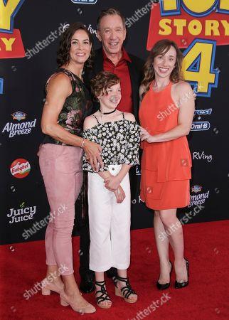 Jane Hajduk, Elizabeth Allen Dick, Tim Allen and Katherine Allen