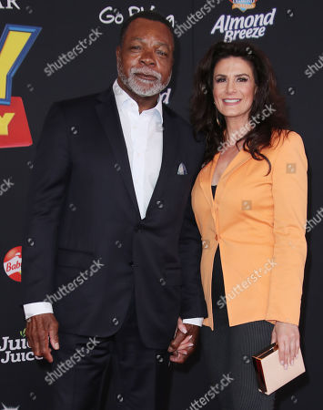 Stock Picture of Carl Weathers, Christine Kludjian