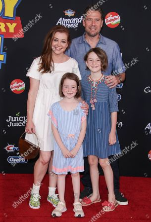 Stock Picture of Alyson Hannigan, Keeva Jane Denisof, Satyana Marie Denisof and Alexis Denisof