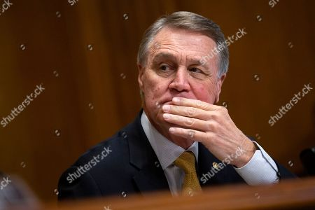 United States Senator David Perdue (Republican of Georgia) during the U.S. Senate Caucus on International Narcotics Control hearing