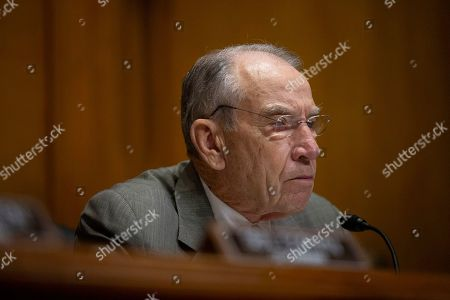 Stock Photo of United States Senator Chuck Grassley (Republican of Iowa) during the U.S. Senate Caucus on International Narcotics Control hearing