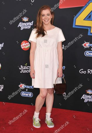 """Alyson Hannigan arrives at the world premiere of """"Toy Story 4"""", at the El Capitan in Los Angeles"""
