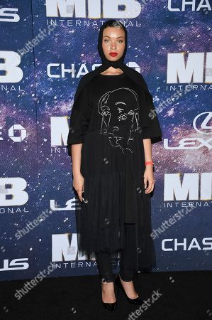 """Executive director of """"Equality for HER"""" Blair Imani attends the world premiere of """"Men in Black: International"""" at the AMC Loews Lincoln Square, in New York. Photo by Evan Agostini/Invision/AP"""