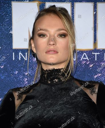"""Sophia Ahrens attends the world premiere of """"Men in Black: International"""" at the AMC Loews Lincoln Square, in New York. Photo by Evan Agostini/Invision/AP"""
