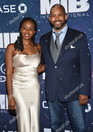 """Stock Picture of Jordan Boatman, Michael Boatman. Actor Michael Boatman, right, and daughter Jordan Boatman attend the world premiere of """"Men in Black: International"""" at the AMC Loews Lincoln Square, in New York. Photo by Evan Agostini/Invision/AP"""
