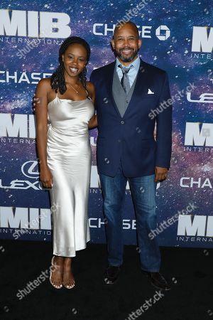 Michael Boatman (R) and daughter Jordan Boatman (L)