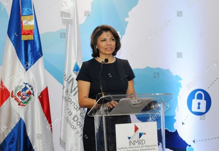 Stock Picture of Former president of Costa Rica Laura Chinchilla (2010-2014) speaks during the 'Integral migration policy: An experience from Costa Rica' conference in Santo Domingo, Dominican Republic, 11 June 2019. Chinchilla affirmed that the regime of Venezuela has provoked a humanitarian crisis.