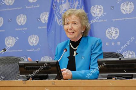 Editorial image of UN Elders board press conference, New York, USA - 11 Jun 2019