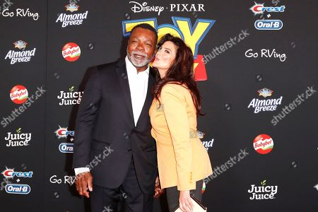Carl Weathers (L) and Christine Kludjian (R) arrive for the world premiere of 'Toy Story 4' at the El Capitan Theatre in Hollywood, Los Angeles, California, USA, 11 June 2019. The movie opens in the USA on 21 June 2019.