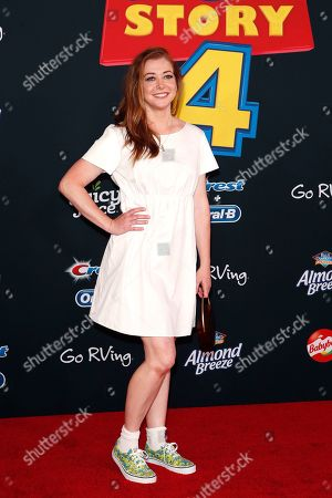 Alyson Hannigan arrives for the world premiere of 'Toy Story 4' at the El Capitan Theatre in Hollywood, Los Angeles, California, USA, 11 June 2019. The movie opens in the USA on 21 June 2019.