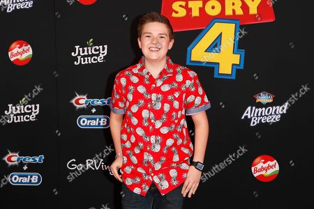"""Stock Photo of Jet Jurgensmeyer arrives for the world premiere of """"Toy Story 4"""" at the El Capitan Theatre in Hollywood, Los Angeles, California, USA 11 June 2019. The movie opens in the US 21 June 2019."""