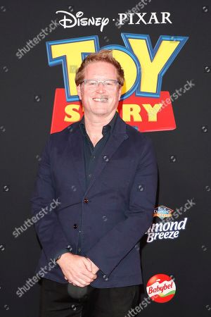 "Stock Image of Andrew Stanton arrives for the world premiere of ""Toy Story 4"" at the El Capitan Theatre in Hollywood, Los Angeles, California, USA 11 June 2019. The movie opens in the US 21 June 2019."