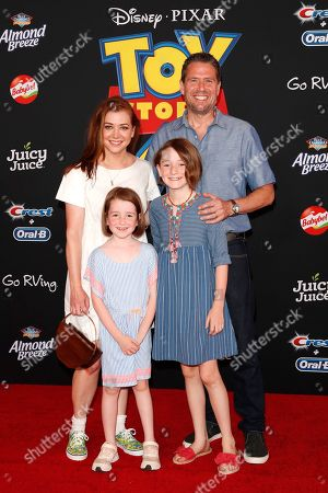 "Stock Image of Alyson Hannigan, Keeva Jane Denisof, Satyana Marie Denisof and Alexis Denisof arrive for the world premiere of ""Toy Story 4"" at the El Capitan Theatre in Hollywood, Los Angeles, California, USA 11 June 2019. The movie opens in the US 21 June 2019."