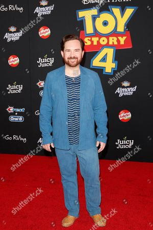 """John Morris arrives for the world premiere of """"Toy Story 4"""" at the El Capitan Theatre in Hollywood, Los Angeles, California, USA 11 June 2019. The movie opens in the US 21 June 2019."""