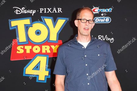 """US executive and CCO of Pixar Pete Docter arrives for the world premiere of """"Toy Story 4"""" at the El Capitan Theatre in Hollywood, Los Angeles, California, USA 11 June 2019. The movie opens in the US 21 June 2019."""
