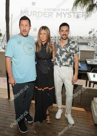 Adam Sandler, Jennifer Aniston and Luis Gerardo Mendez