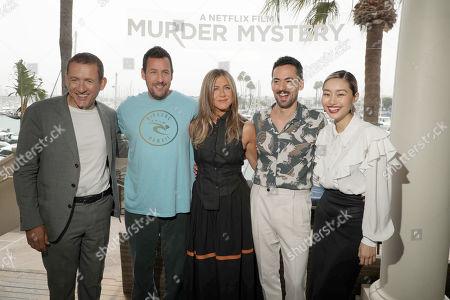 Dany Boon, Adam Sandler, Jennifer Aniston, Luis Gerardo Mendez and Shioli Kutsuna