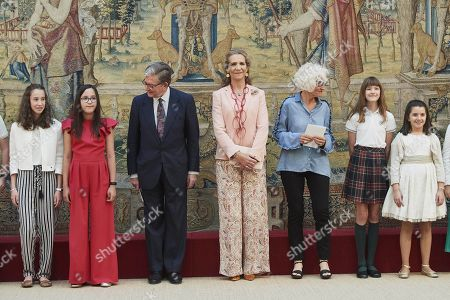 Princess Elena attends the awards ceremony of the XXVIII edition of the 'Children and Youth Painting Contest' of National Heritage