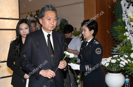 Stock Photo of Former Japanese Prime Minister Yukio Hatoyama attends the funeral of Lee Hee-ho, the widow of former President Kim Dae-jung, in Seoul, South Korea, 12 June 2019. Lee died on 10 June at age 96.