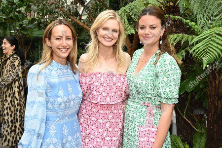 Lavinia Brennan, Candice Lake and Natasha Rufus Isaacs