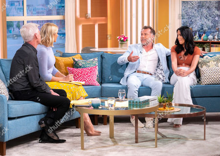 Phillip Schofield and Holly Willoughby with Christopher Quinten and Robyn Dellabare