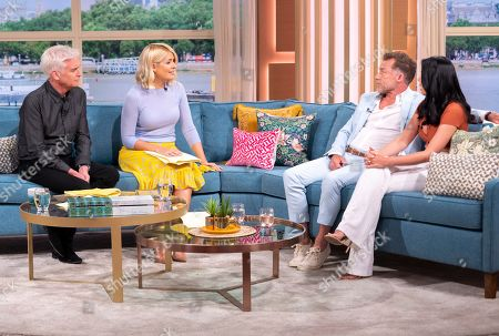 Stock Photo of Phillip Schofield and Holly Willoughby with Christopher Quinten and Robyn Dellabare