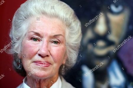 Philomena Lynott attends the Phil Lynott exhibition opening at Green Gallery, Stephens Green shopping centre, Dublin.