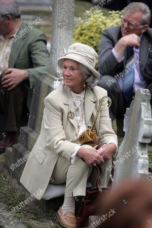 Philomena Lynott attends the funeral of Former Taoiseach Charles Haugheys at St Fintans Graveyard, Sutton County, Dublin, Ireland.