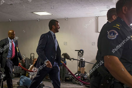 Donald Trump Jr. arrives before a closed meeting with members of the Senate Intelligence Committee on Capitol Hill in Washington, DC, USA, 12 June 2019. Senate Intelligence Committee Chairman Richard Burr (R-NC) issued a subpoena requesting follow up to previous testimony from Trump Jr.