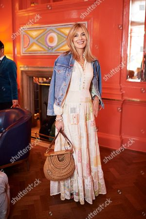 Stock Image of Kim Hersov attends the Matthew Williamson afternoon tea at The Coral Room to launch the collection with Newby Teas of London