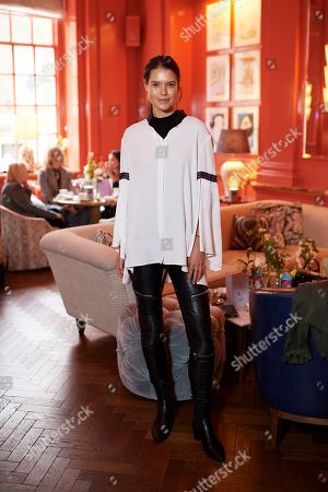 Sarah Ann Macklin attends the Matthew Williamson afternoon tea at The Coral Room to launch the collection with Newby Teas of London