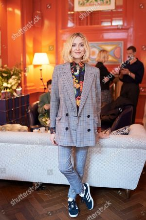 Fearne Cotton attends the Matthew Williamson afternoon tea at The Coral Room to launch the collection with Newby Teas of London