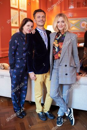 Sadie Frost, Matthew Williamson and Fearne Cotton attend the Matthew Williamson afternoon tea at The Coral Room to launch the collection with Newby Teas of London