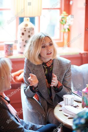 Stock Image of Fearne Cotton attends the Matthew Williamson afternoon tea at The Coral Room to launch the collection with Newby Teas of London