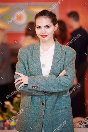 Doina Ciobanu attends the Matthew Williamson afternoon tea at The Coral Room to launch the collection with Newby Teas of London
