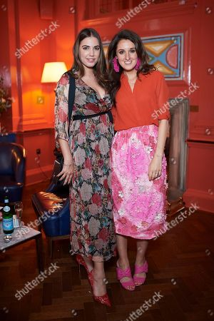 Amber Le Bon and Rosanna Falconer attend the Matthew Williamson afternoon tea at The Coral Room to launch the collection with Newby Teas of London