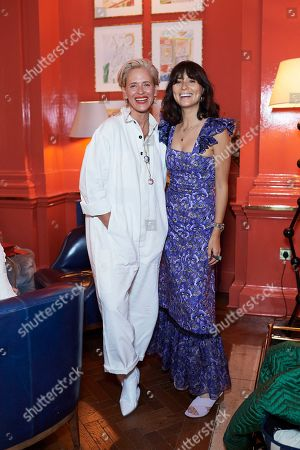 Deborah Brett and Jasmine Hemsley attend the Matthew Williamson afternoon tea at The Coral Room to launch the collection with Newby Teas of London