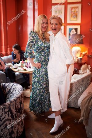 Stock Image of Fiona Leahy and Deborah Brett attend the Matthew Williamson afternoon tea at The Coral Room to launch the collection with Newby Teas of London