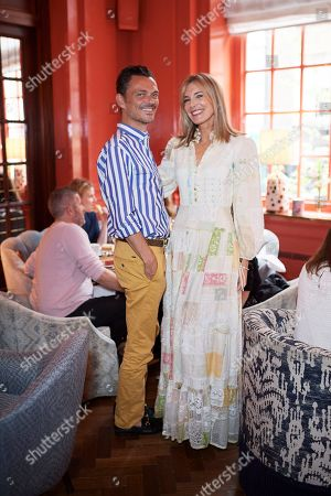 Stock Picture of Matthew Williamson and Kim Hersov attend the Matthew Williamson afternoon tea at The Coral Room to launch the collection with Newby Teas of London